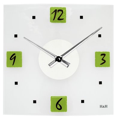 ELTON skleněné nástěnné hodiny - 161129