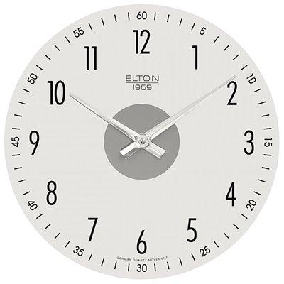 ELTON skleněné nástěnné hodiny - 161008