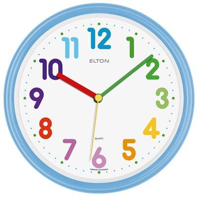 ELTON dětské plastové nástěnné hodiny - světle modré - 163371