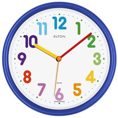 ELTON dětské plastové nástěnné hodiny - tmavě modré - 163375