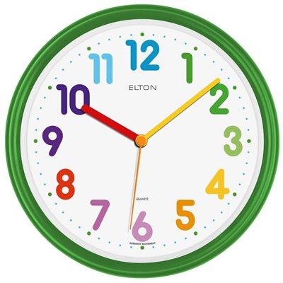 ELTON dětské plastové nástěnné hodiny - zelené - 163373