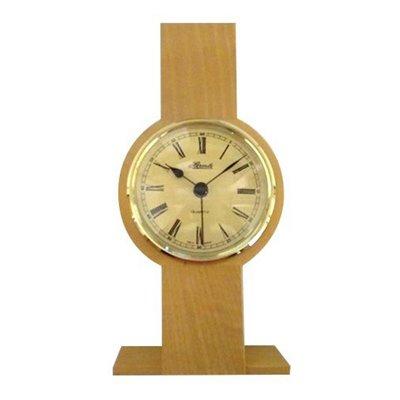 Stolní hodiny světlé kulaté zlaté