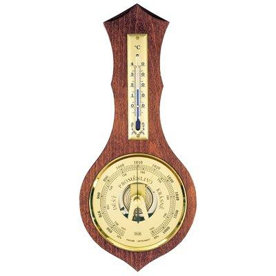 Nástěnný BAROMETR-TEPLOMĚR pro snadnou kontrolu klimatických podmínek, vhodný domů, na chatu, chalupu či do práce - 8037
