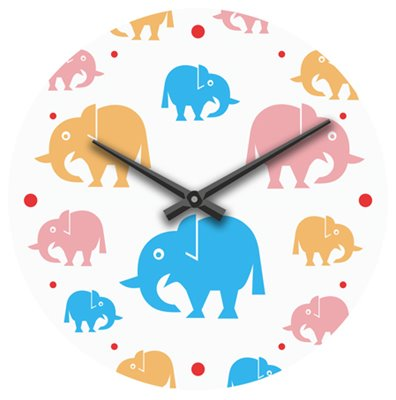 ELTON skleněné nástěnné hodiny - 161057